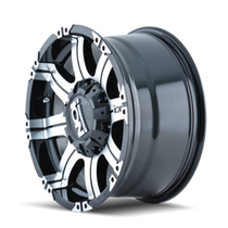 Ion 186 Black/Machined Face 16X8 5-114.3/5-127 10mm 87mm