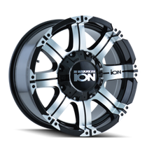 Ion 186 Black/Machined Face 16X8 6-139.7 10mm 108mm
