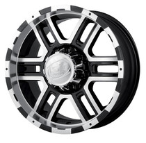 Ion 179 Black/Machined 16X8 5 X 127