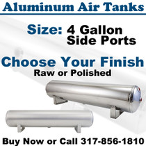 4 Gallon Aluminum Air Tank - Raw or Polished