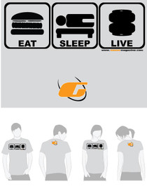 Grey Tee Shirt Eat, Sleep, Live