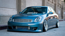 02-08 Infinit G35/Nissan 350Z Air Lift Kit with Manual Air Management- Front/Side View