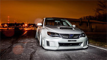 2008-2014 Subaru STI Air Lift Kit with Manual Air Management- Front View