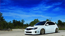 2008-2014 Subaru STI Air Lift Kit with Manual Air Management- Front/Side View