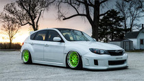 08-14 Subaru Impreza/WRX Air Lift Kit with Manual Air Management- Side View