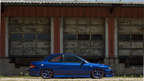 92-01 Subaru Impreza/WRX Air Lift Kit with Manual Air Management- Side View