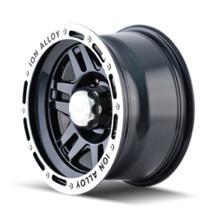 ION 133 Black/Machined Lip 16X10 6-139.7 -38mm 108mm