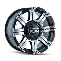 ION 187 Black/Machined-17X9 8-180 18mm 124.1mm