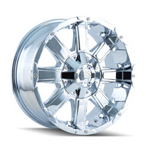 Mayhem Chaos 8030 Chrome 20x9 8-165.1/8-170 18mm 130.8mm