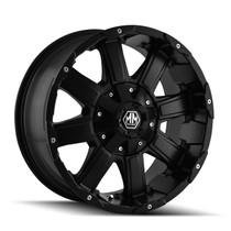 Mayhem Chaos 8030 Matte Black 20x9 8-180 +18mm 124.1mm