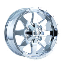 Mayhem Tank 8040 Chrome 17x9 8-180 +25mm 124.1mm