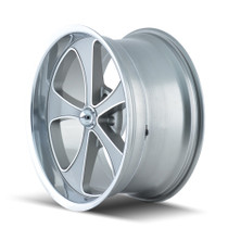 Ridler 645 Grey/Machined Face/Polished Lip 20x10 5-127 0mm 83.82mm