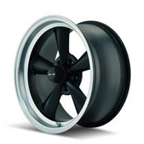 Ridler 675 Matte Black/Machined Lip 17X7 5-120.65 0mm 83.82mm
