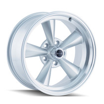 Ridler 675 Silver/Machined Lip 17X9.5 5-120.65 -5mm 83.82mm