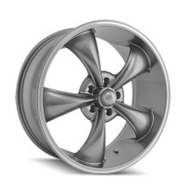 Ridler 695 Grey/Machined Ring 20x10 5-120 38mm 72.62mm