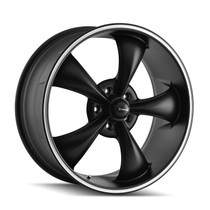 Ridler 695 Matte Black/Machined Ring 20x10 5-120 38mm 72.62mm
