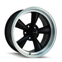 Ridler 695 Matte Black/Machined Lip 20x10 5-114.3 0mm 83.82mm