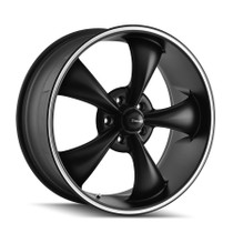 Ridler 695 Matte Black/Machined Ring 20x10 5-114.3 38mm 72.62mm