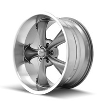 Ridler 695 Grey/Machined Lip 20x10 5-127 0mm 83.82mm