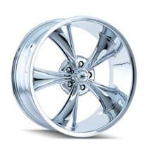Ridler 695 Chrome 17x7 5-114.3 0mm 83.82mm