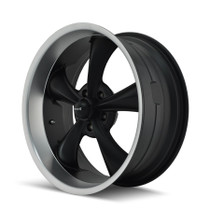 Ridler 695 Matte Black/Machined Lip 18x8 5-127 0mm 83.82mm - wheel side view