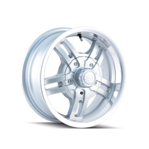 Ion Trailer Wheels 12 Silver/Machined 14x6 5-114.3 0mm 83.82mm