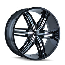Mazzi 792 Rush Black/Machined 24x9.5 5-115/5-127 18mm 78.3mm