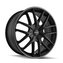 Touren 3260 Matte Black/Machined Ring 17X7.5 4-100/4-114.3 42mm 67.1mm