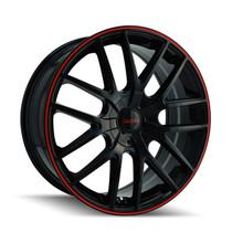 Touren 3260 Black/Red Ring 18X8 5-108/5-114.3 40mm 72.62mm