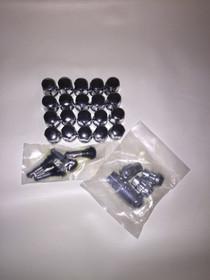 """14x1.5"""" 5/6 Lug Bulge Acorn Lug Nut Kit Extra Long"""