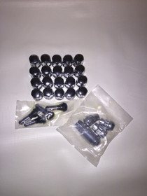 "14x2"" 5/6 Lug Bulge Acorn Lug Nut Kit Extra Long"