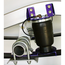 "AIRoverLeaf - 2000lb sideframe / 2.5"" leaf bracket kit mounted view"