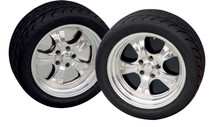 """16"""" Wheelplate Pol. Stainless (set of 4)"""