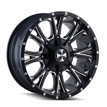Cali Offroad 9101 Americana 20x12 Satin Black Milled Spokes -44mm 124.1