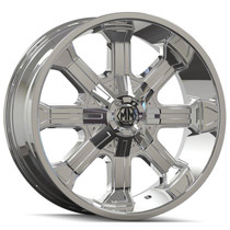Mayhem Beast 8102 Chrome 20x9 5x127/139.7 18mm 87