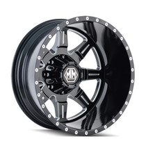 Mayhem 8101 Monstir Rear Black Milled Spokes 20x8.25 8x170 -160mm 125.2mm
