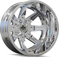 Mayhem 8101 Monstir Rear Chrome 20x8.25 8x165.1 -160mm 121.7