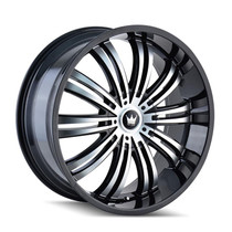 Mazzi 363 Swank Black Machined Face 22x9.5 5-115/120 +18mm 74.1