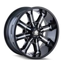 Mayhem Beast 8102 Black Milled Spokes 20x9 8x165.1/170 0mm 130.8