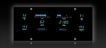 "Universal 6 Gauge (4.6"" X 10"")Designer Series Digital Instrument System"