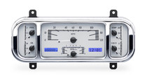 37-38 Chevy Car VHX Instruments silver and blue