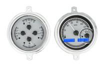 1951-52 Ford Pickup VHX Instruments silver and blue
