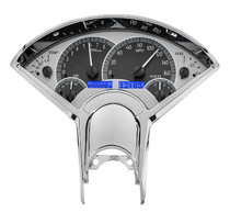 55-56 Chevy Car VHX Instruments black and blue