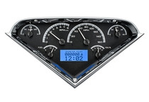 55-59 Chevy Pickup VHX Instruments black and blue