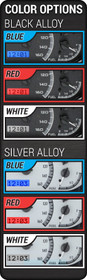 Universal 6 Gauge Round, Analog VHX Instruments color options