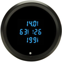 Odyssey II Series 3-3/8 Inch Fuel/Volt/Oil Pressure/Water Temp Black Bezel and Blue