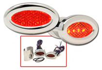 Oval LED Marker Lights in Red