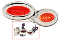 Oval LED Marker Lights in Red