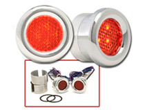 Round LED Marker Lights in Red