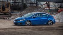 12-15 Honda Civic/13-17 Acura ILX Air Lift Kit with Manual Air Management w/ No Rear Shocks- Side View